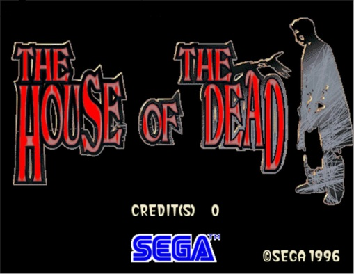 The House of The Dead Title Screen.